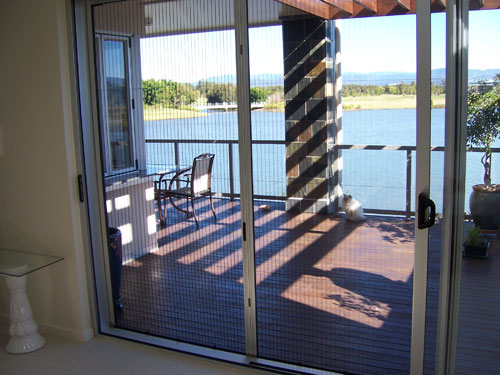 Pleated Screen Door